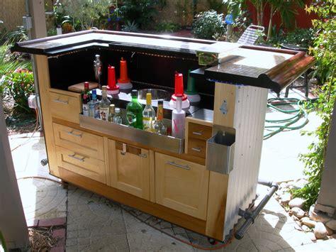 portable outdoor kitchen island backyard bar homebuilding 4364