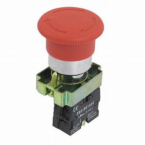22mm Nc Red Mushroom Emergency Stop Push Button Switch 600v 10a N3