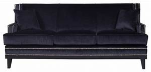 divano roma furniture modern soft velvet with nailhead With black sectional sofa with nailhead trim