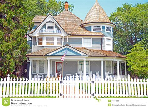 Clapboard House Stock Photo. Image Of House, Comfort