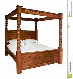 Traditional Four Poster Bed Stock Photo - Image: 42227649