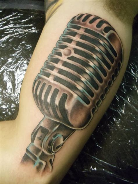 awesome microphone tattoos