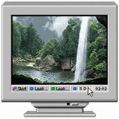 Vaporwave Aesthetic Computer Screen Frame Template Hareketli