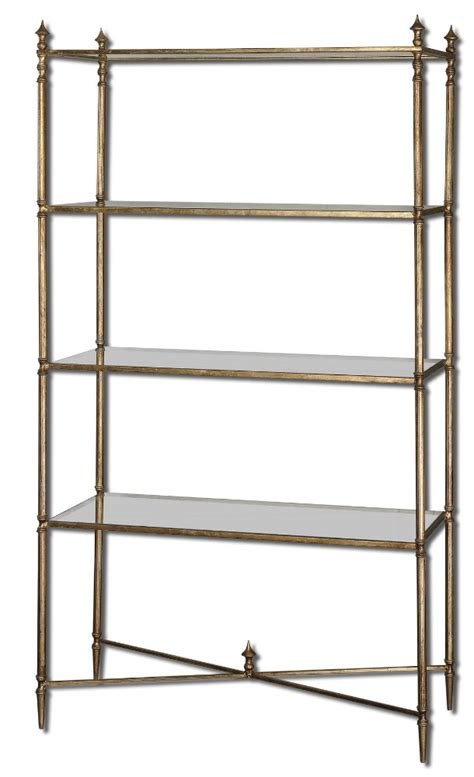 Mirrored Etagere by Uttermost Henzler Mirrored Glass Etagere
