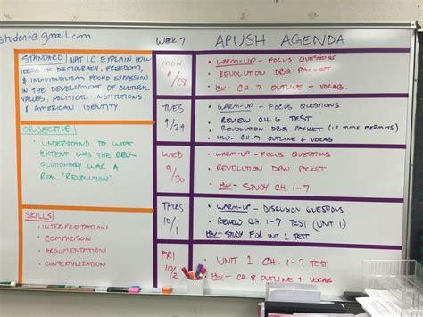high school whiteboard configuration  standard