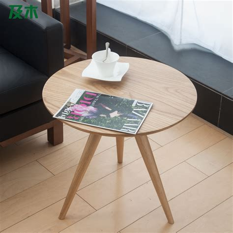 creative tables and wood furniture creative modern minimalist scandinavian solid wood side table white oak round