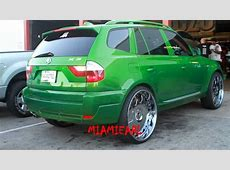 C2C CUSTOMS SLIME GREEN BMW X3 ON 26