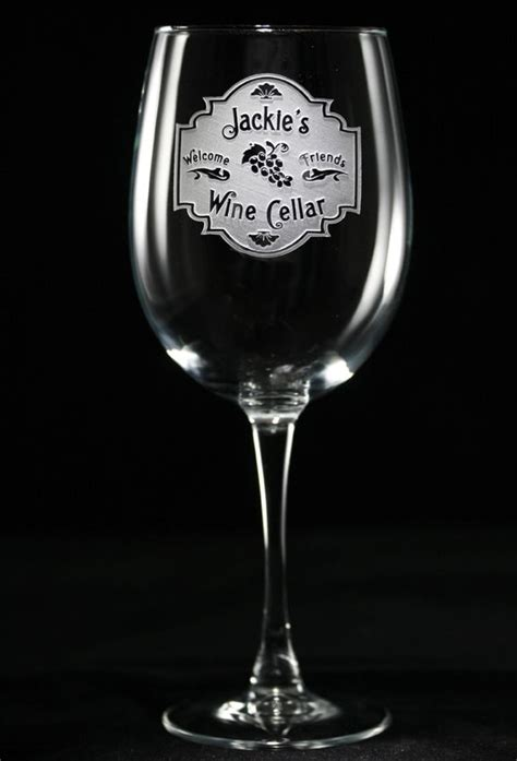 Engravable Barware - personalized wine cellar wine glasses personalized wine
