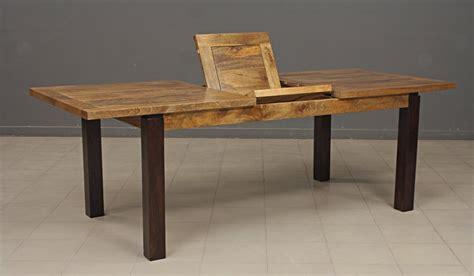 table de cuisine en bois avec rallonge table repas rectangulaire bois exotique avec rallonge
