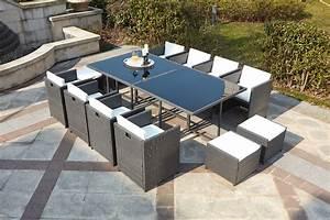 Salon De Jardin Miami : salon de jardin en r sine encastrable 12 places gris miami ~ Melissatoandfro.com Idées de Décoration