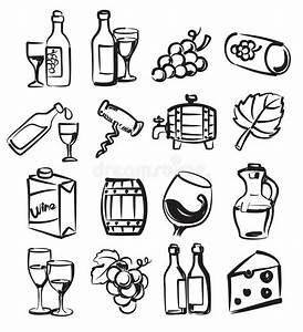 Hand Draw Wine Stock Vector  Illustration Of Drink  Sign