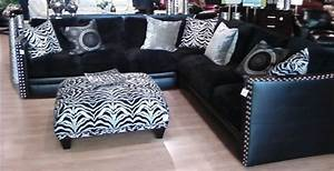 Living rooms eclectic sectional sofas chicago by for Zebra sectional sofa