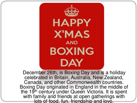 when is boxing day boxing day england images