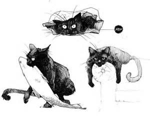 cat drawings inktober cats by rheann on deviantart
