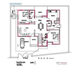 square house floor plans modern house plan 2800 sq ft kerala home design and floor plans