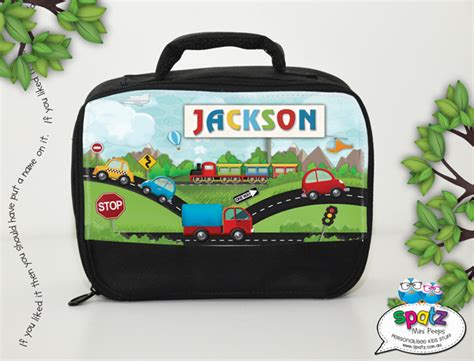personalised kids insulated lunch bag spatz mini peeps