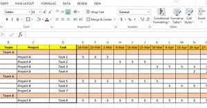 Ms Excel Gantt Chart Template Excel Based Resource Plan Template Free