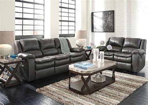 Long Knight Gray Reclining Living Room Set