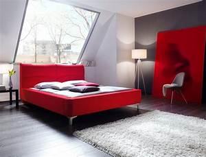 Kolonial Bett 160x200 : polsterbett cloude bett 160x200 cm rot mit lattenrost ~ Michelbontemps.com Haus und Dekorationen