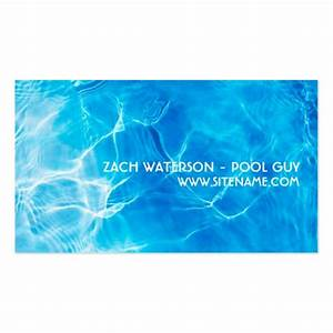 Pool cleaning business double sided standard business for Pool cleaning business cards