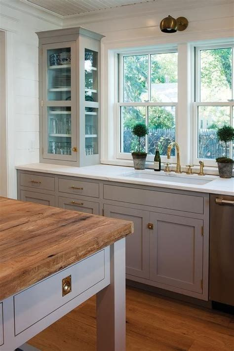 painting kitchen cabinets with farrow and stunning kitchen with light gray cabinets painted farrow 9705