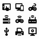 Icons Devices Computer Wifi Wireless Vector Network