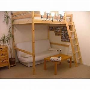 Lit Mezzanine 2 Places Ikea : lit mezzanine 2 places pin massif pas cher priceminister ~ Preciouscoupons.com Idées de Décoration