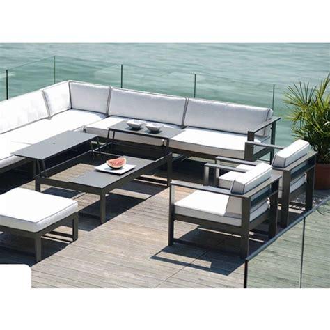 canap de jardin aluminium ensemble de salon summer lounge de rausch