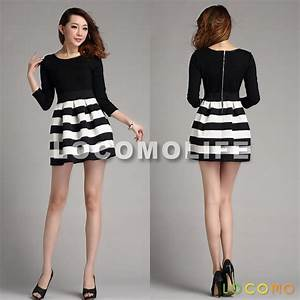 Black And White Casual Dresses | Kzdress