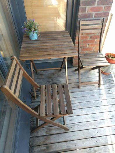 Outdoor Chairs For Balcony by Table And 2 Folding Chairs For Garden Patio Outdoor