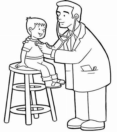 Doctor Coloring Pages Drawing Sheets Doctors Kid