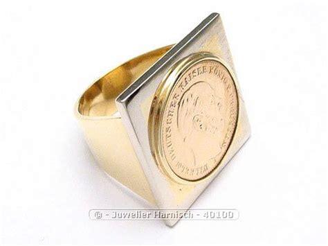 Gold 585 14 Karat Gold Ring Münzring Münze Bicolor 40100