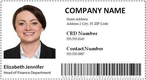employee id card templates word format microsoft word