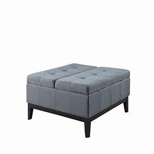 blue grey dual lift storage coffee table ottoman hb4690 With grey coffee table with storage