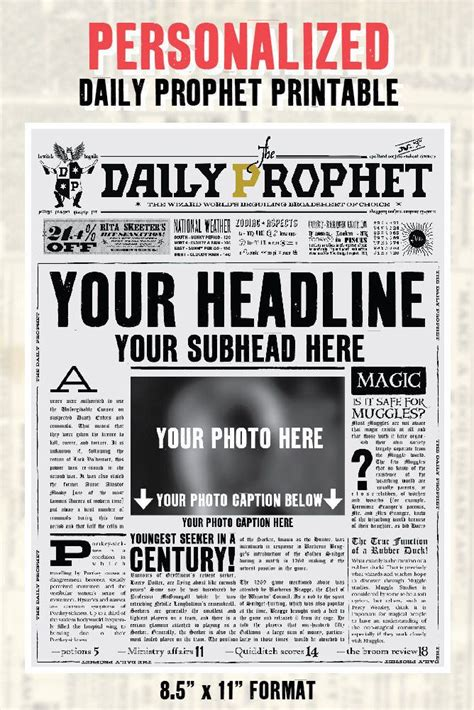personalized daily prophet front page  potter