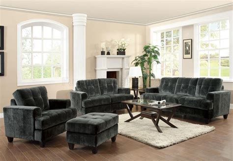 Charcoal Sofa Living Room by 500521 Hurley Sofa By Coaster In Charcoal Fabric W Options