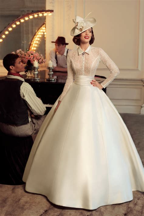 Elegant Vintage Wedding Dress Long Sleeve 2015 Ball Gowns