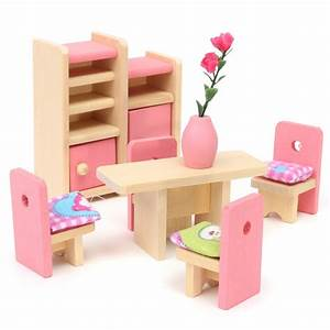 Wooden Delicate Dollhouse Furniture Toys Miniature For