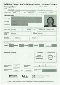 Image Result For Ielts Certificate Sample 2018