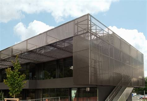 perforated cladding havellandschule  berlin  rmig