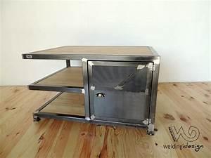 Meuble Acier Bois : meuble tv d 39 angle design welding design sur mesure tarbes ~ Teatrodelosmanantiales.com Idées de Décoration