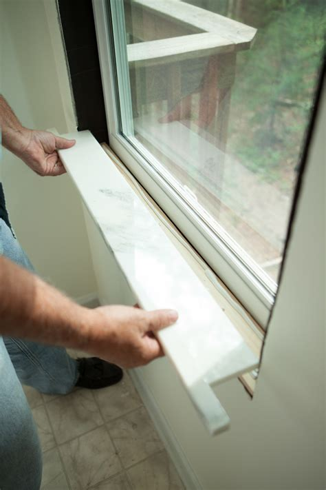 How To Replace A Window Sill by Installing Window Sills Interior Billingsblessingbags Org