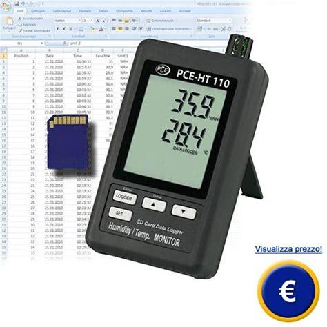 Umidità Relativa Interna by Misuratore Di Temperatura E Datalogger Pce Ht110