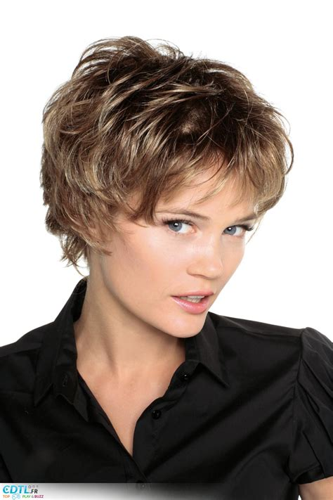 modele de coupe de cheveux court pour femme coupe de cheveux ebouriffée crossen