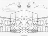 Islamic Mosque Coloring Pages Al Kabah Colouring Studies sketch template