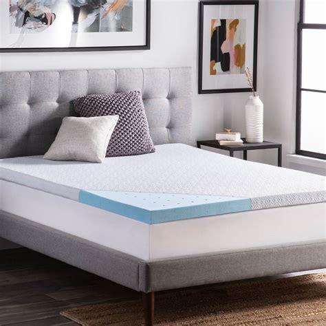 2 inch memory foam mattress topper lucid ventilated 2 5 inch gel memory foam mattress topper