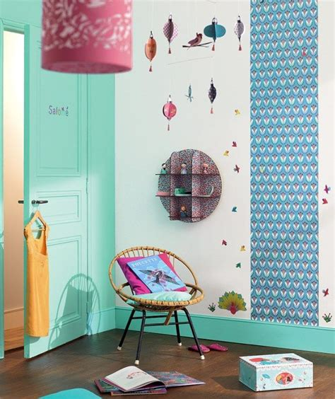 d oration chambre chambre fille djeco turquoise