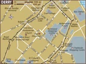Derry Londonderry Ireland Map
