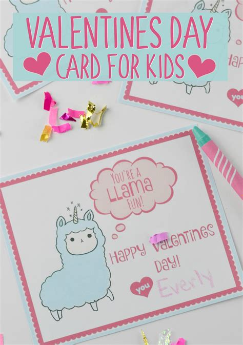 Every year we have to put together valentine's for the kids to give out to their class. Valentines Day Card for Kids with Free Printable - Houston ...