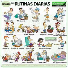 Daily Routines In Spanish  Rutinas Diarias  Woodward Spanish